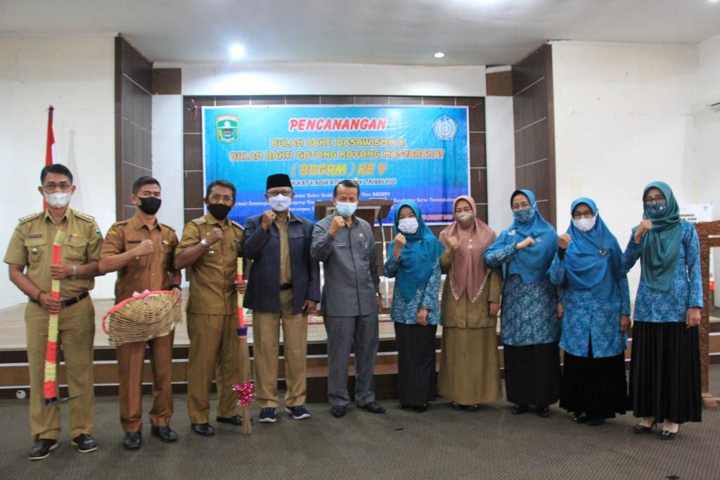 Pencanangan Bulan Bhakti Dasawisma dan BBGRM Kabupaten Solok